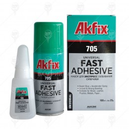 Akfix 705 Клей Для Экспресс Склеивания (25г) + ускоритель